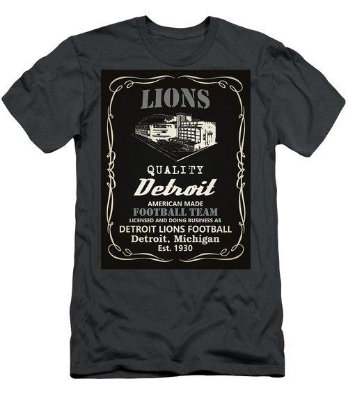 Detroit Lions Whiskey Men's T-Shirt (Athletic Fit)