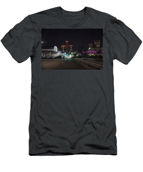 Men's T-Shirt (Slim Fit) featuring the photograph Detroit Michigan by Nicholas Grunas