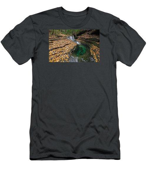 Devils Bathtub Cascade Men's T-Shirt (Slim Fit) by Serge Skiba