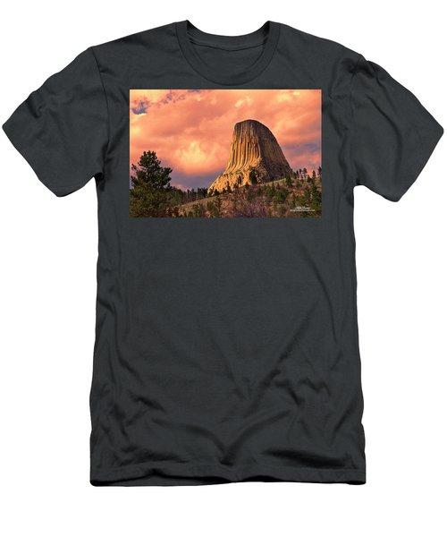 Devil's Tower Men's T-Shirt (Athletic Fit)
