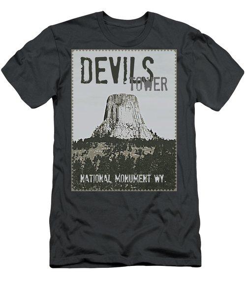 Devils Tower Stamp Men's T-Shirt (Athletic Fit)