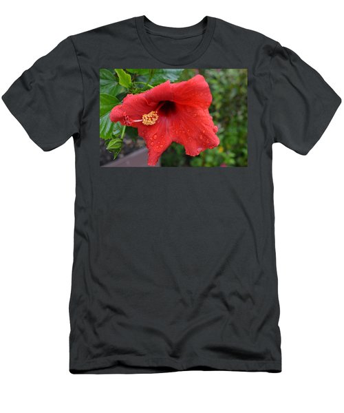 Dew On Flower Men's T-Shirt (Athletic Fit)