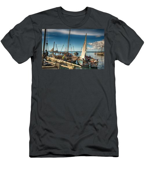 Dhow Sailing Boat Men's T-Shirt (Slim Fit) by Amyn Nasser