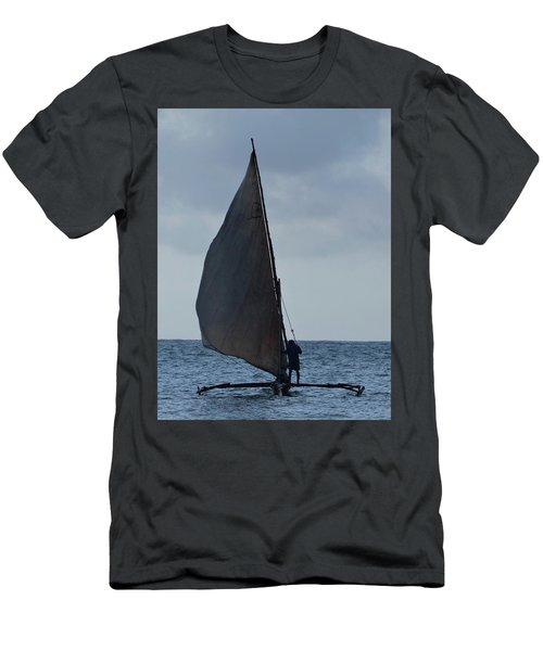 Dhow Wooden Boats In Sail Men's T-Shirt (Slim Fit) by Exploramum Exploramum