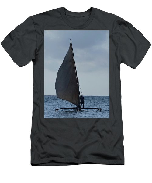 Dhow Wooden Boats In Sail Men's T-Shirt (Athletic Fit)