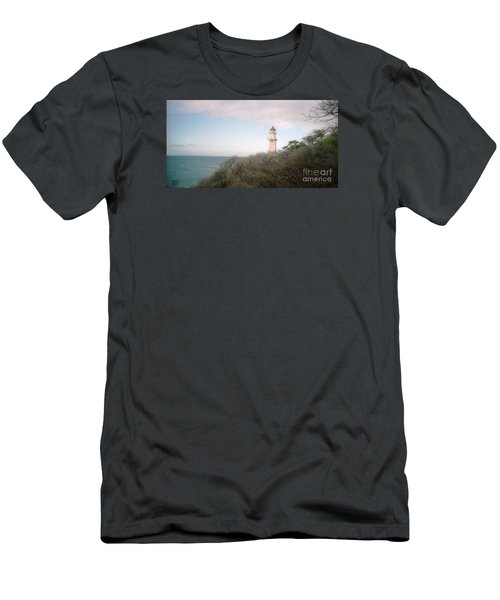 Diamond Head Light House Men's T-Shirt (Slim Fit) by Ted Pollard