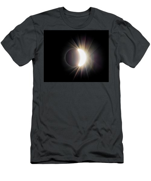 Men's T-Shirt (Athletic Fit) featuring the photograph Diamond Ring With Flare During Solar Eclipse by Lori Coleman