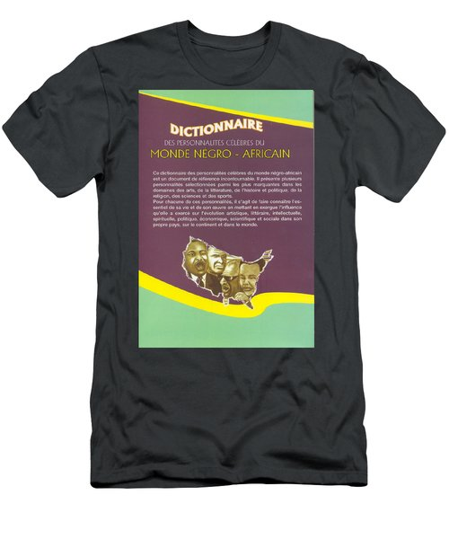 Men's T-Shirt (Slim Fit) featuring the painting Dictionary Of Negroafrican Celebrities 2 by Emmanuel Baliyanga