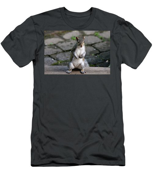Men's T-Shirt (Athletic Fit) featuring the photograph Did You Say Peanuts? by Trina Ansel