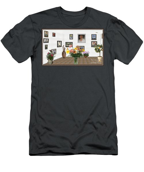 Digital Exhibition _ Flowers In A Vase Men's T-Shirt (Slim Fit) by Pemaro