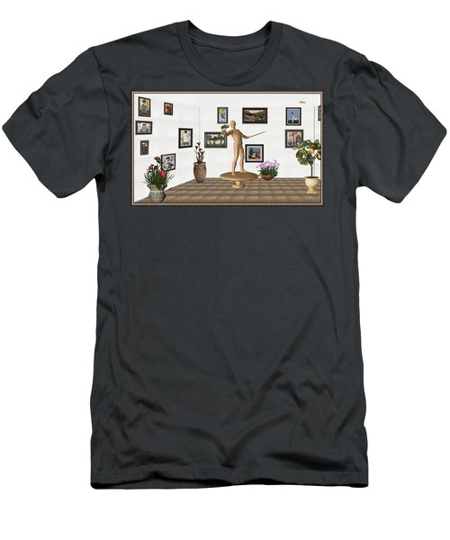 Digital Exhibition _ Guard Of The Exhibition 3 Men's T-Shirt (Slim Fit) by Pemaro