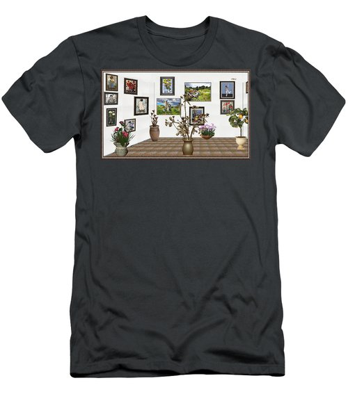 digital exhibition _ Modern Statue of Modern statue of branches Men's T-Shirt (Slim Fit) by Pemaro