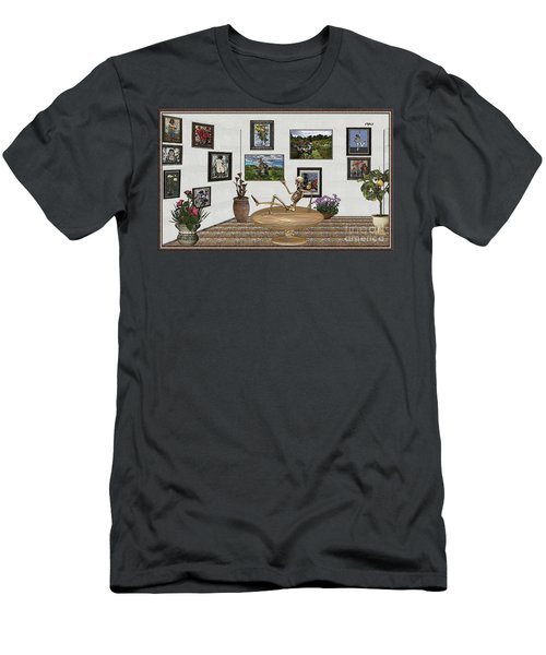 Digital Exhibition _ Relaxation In The Afterlife Men's T-Shirt (Athletic Fit)