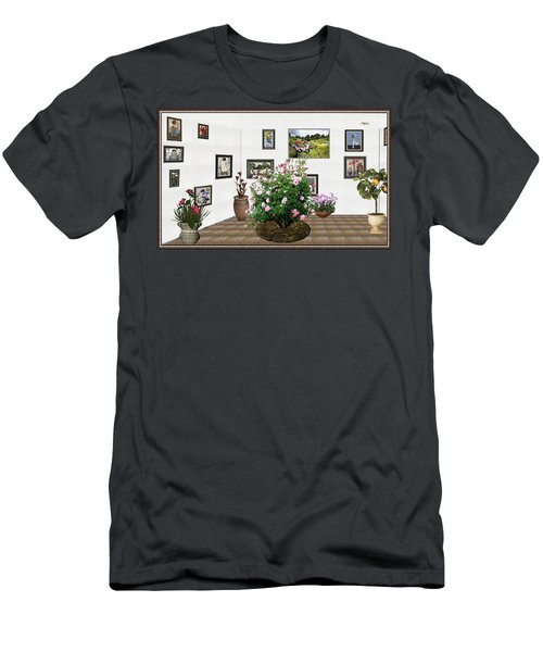 Digital Exhibition _ Roses Blossom 22 Men's T-Shirt (Slim Fit) by Pemaro