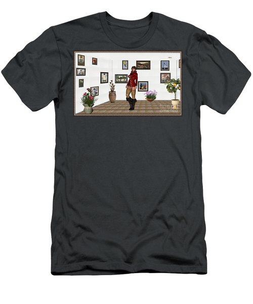 digital exhibition 32  posing  Girl 31  Men's T-Shirt (Slim Fit) by Pemaro