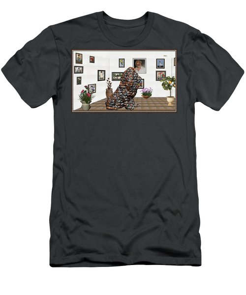 digital exhibition _Modern Statue of scrap Men's T-Shirt (Slim Fit) by Pemaro