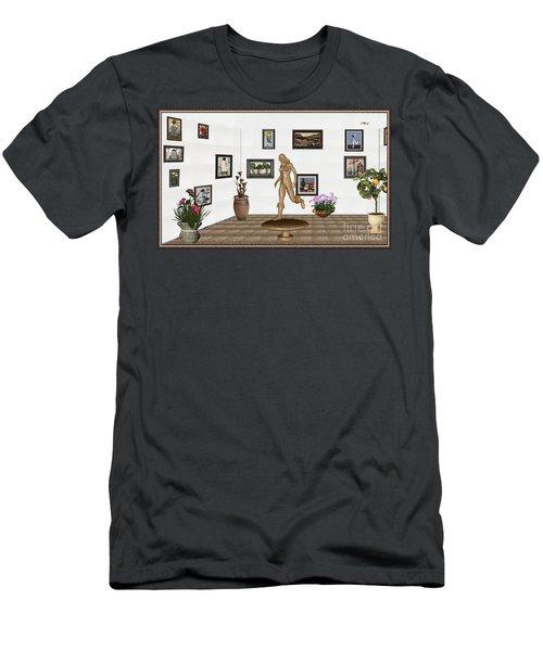 digital exhibition   sculpture of  posing  Girl 32  Men's T-Shirt (Athletic Fit)