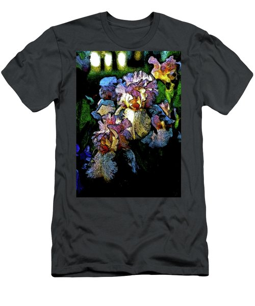 Digital Expressionist Painting Pale Pink Irises 6702 W_4 Men's T-Shirt (Athletic Fit)