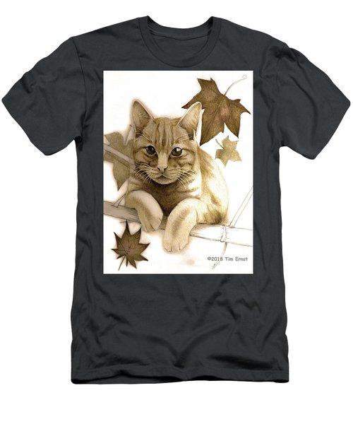 Digitally Enhanced Cat Image Men's T-Shirt (Athletic Fit)