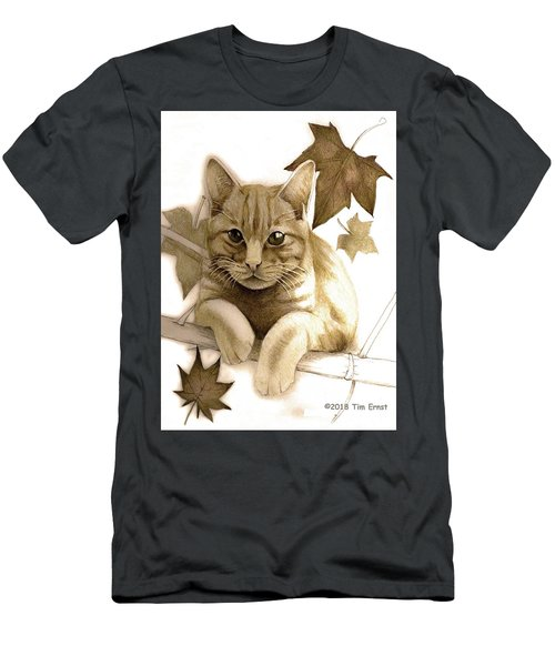 Digitally Enhanced Cat Image Men's T-Shirt (Athletic Fit)
