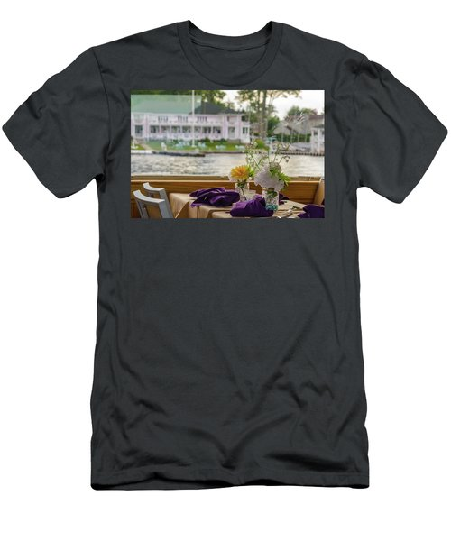 Dining Aboard The Miss Lotta Men's T-Shirt (Slim Fit) by Maureen E Ritter