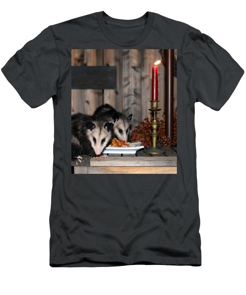Dining Possums IIi Men's T-Shirt (Athletic Fit)
