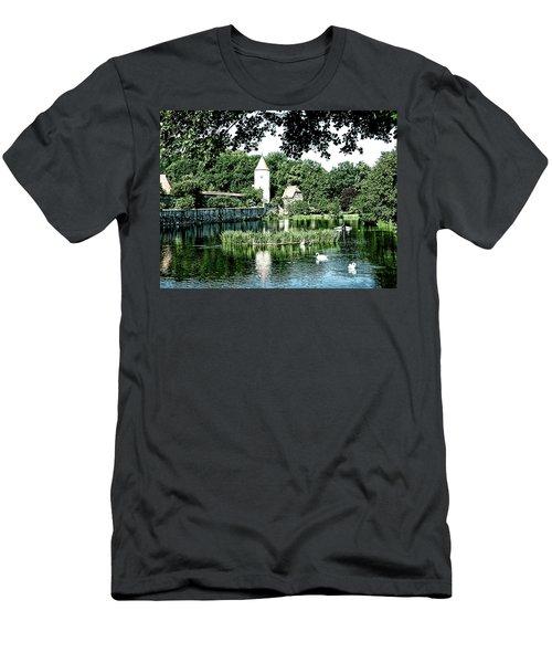 Dinkelsbuhl And Rothenburg Pond Men's T-Shirt (Athletic Fit)