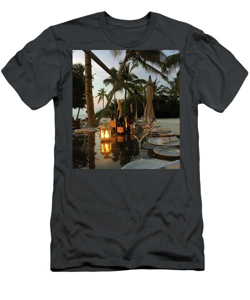 Dinner At The Beach Men's T-Shirt (Athletic Fit)