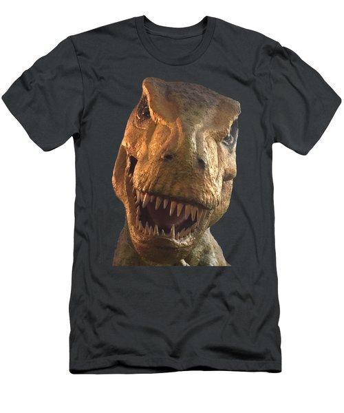 Dino Hello Men's T-Shirt (Slim Fit) by Charles Kraus