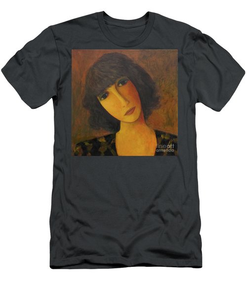Men's T-Shirt (Slim Fit) featuring the painting Disbelieving by Glenn Quist
