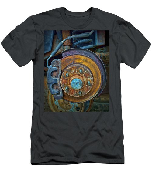Disc Brake Assembly Men's T-Shirt (Slim Fit) by Nikolyn McDonald