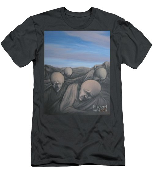Men's T-Shirt (Slim Fit) featuring the painting Dismay by Michael  TMAD Finney