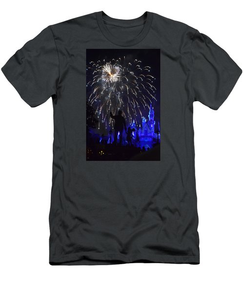 Disneyland By Fireworks Men's T-Shirt (Athletic Fit)