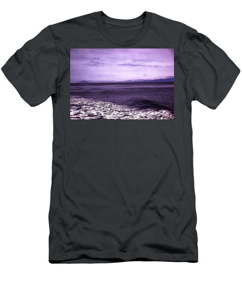 Distant Ferry Near Vancouver Island Men's T-Shirt (Athletic Fit)