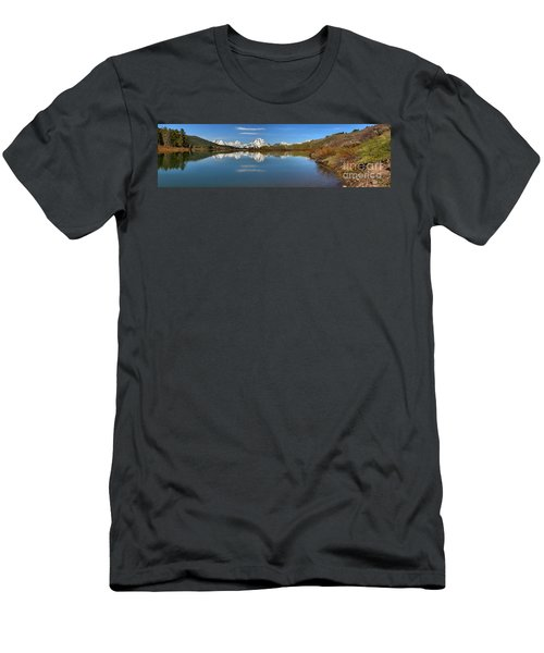 Distant Mt. Moran Reflections Men's T-Shirt (Slim Fit) by Adam Jewell