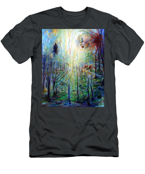 Men's T-Shirt (Slim Fit) featuring the painting Divine Mother Earth by Heather Calderon