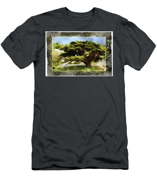 Do-00318 Cedar Barouk - Framed Men's T-Shirt (Slim Fit) by Digital Oil