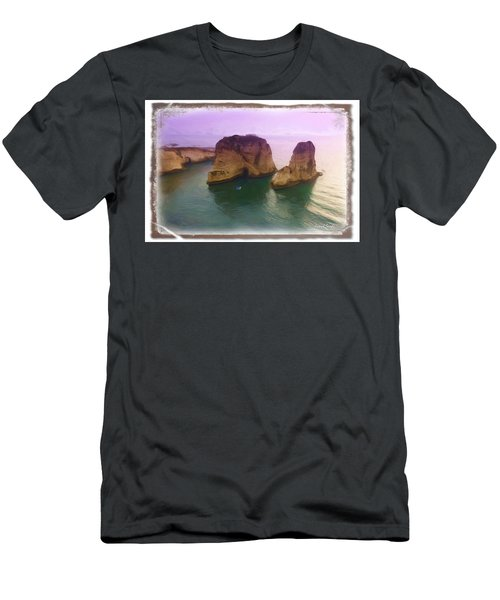 Do-00404 Grotte Aux Pigeons Men's T-Shirt (Slim Fit) by Digital Oil