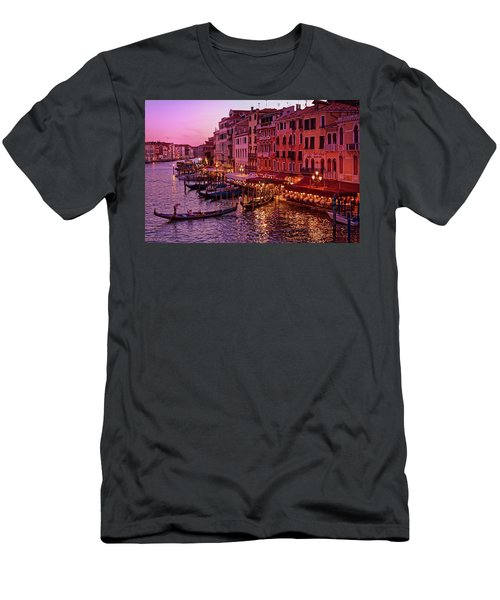A Cityscape With Vintage Buildings And Gondola - From The Rialto In Venice, Italy Men's T-Shirt (Athletic Fit)