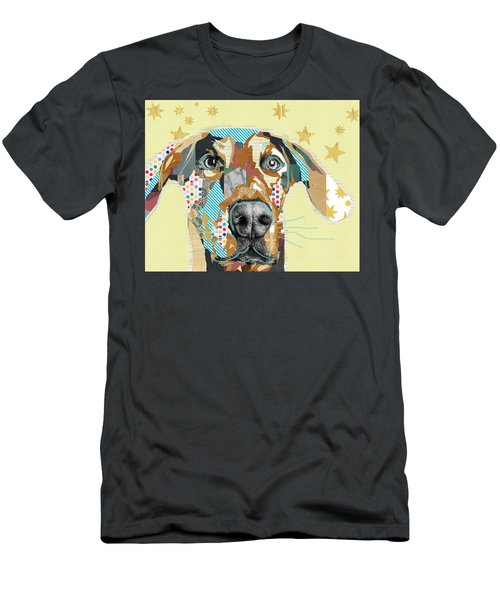 Doberman Collage Men's T-Shirt (Athletic Fit)