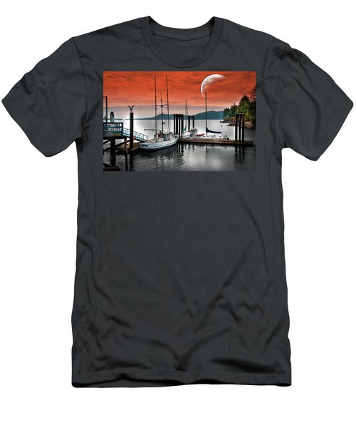 Dock And The Moon Men's T-Shirt (Athletic Fit)