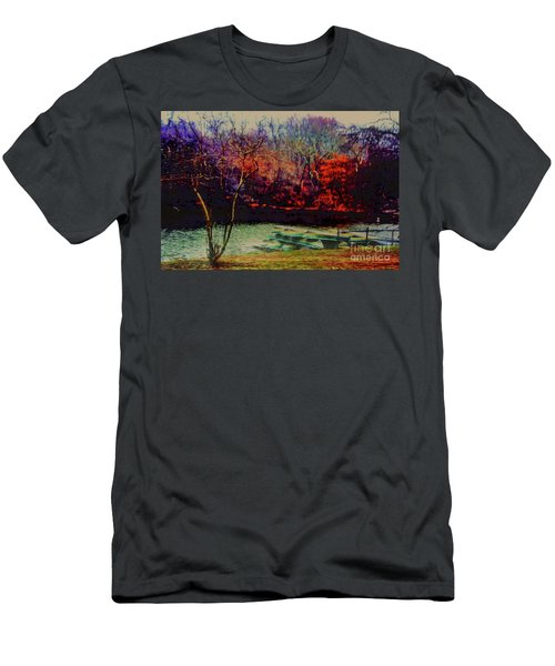 Men's T-Shirt (Slim Fit) featuring the photograph Dock At Central Park by Sandy Moulder