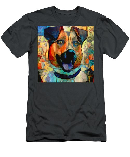 Dog And Cubes Men's T-Shirt (Athletic Fit)