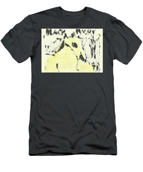 Dog At The Beach - Black Ivory 1 Men's T-Shirt (Athletic Fit)