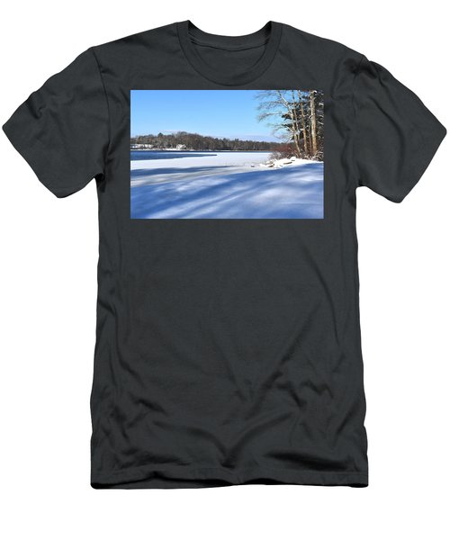 Dog Pond In Winter 1 Men's T-Shirt (Athletic Fit)