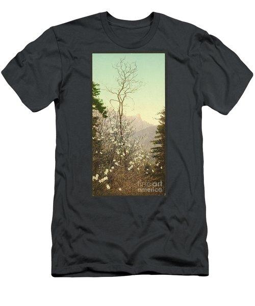 Dogwood Blossoms Men's T-Shirt (Athletic Fit)