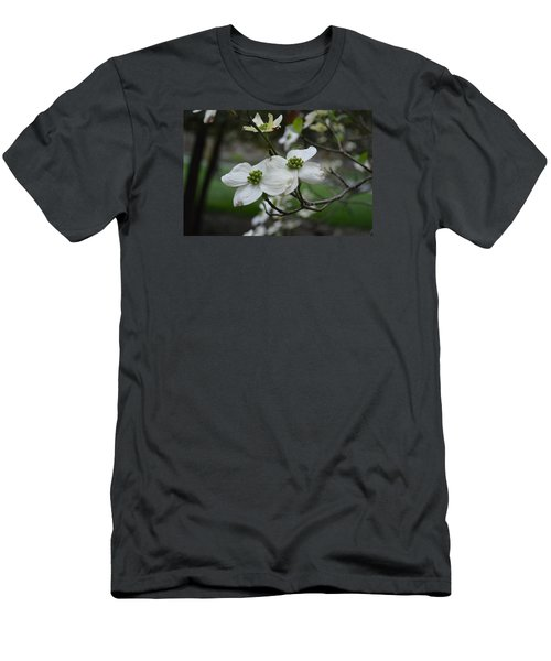 Men's T-Shirt (Slim Fit) featuring the photograph Dogwood by Linda Geiger