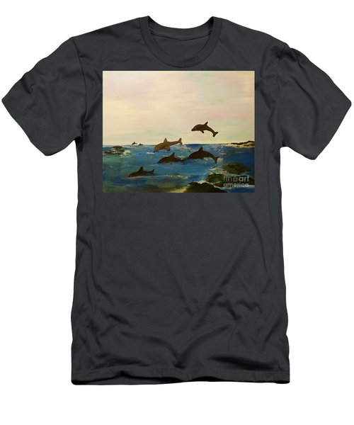 Dolphin Bay Men's T-Shirt (Athletic Fit)
