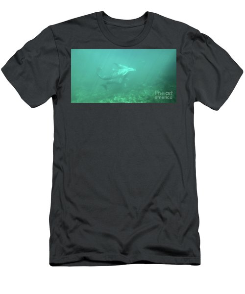 Men's T-Shirt (Athletic Fit) featuring the photograph Dolphin Swim by Francesca Mackenney