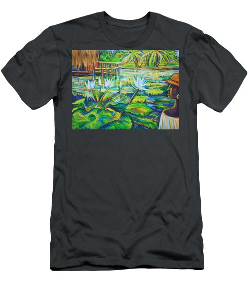 Men's T-Shirt (Slim Fit) featuring the painting Dominicana by Anna  Duyunova
